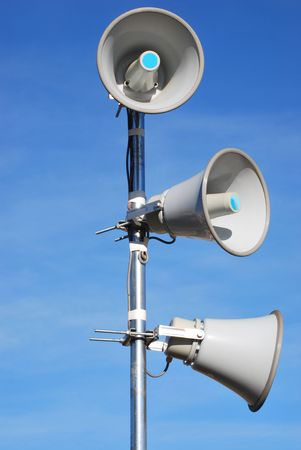 Megaphones over the sky Stock Photo - 4062225