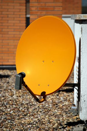 Parabolic antenna. Equipment for receiving digital data from satellites Stock Photo - 4344000