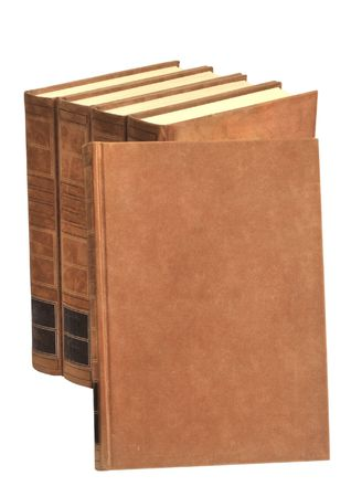 Old fashioned books in brown. Free space to put your own tittle Stock Photo - 4617050