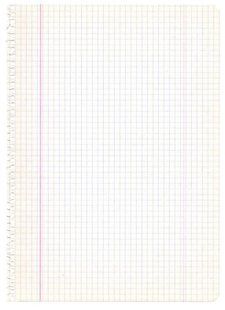 ruled: Old recycled graph paper. Extra high resolution Stock Photo