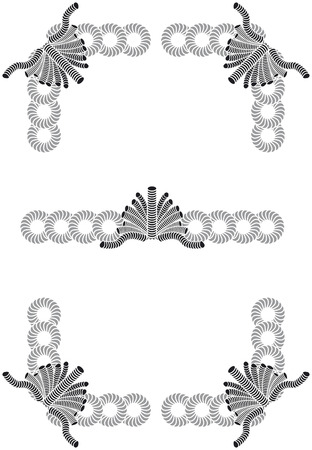 Vector ornaments. Easy to use and apply Stock Vector - 5032522