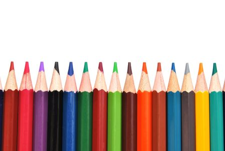 color pencils isolated over a white backghround Stock Photo - 5533874