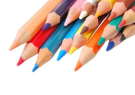 color pencils isolated over a white backghround Stock Photo - 5533873