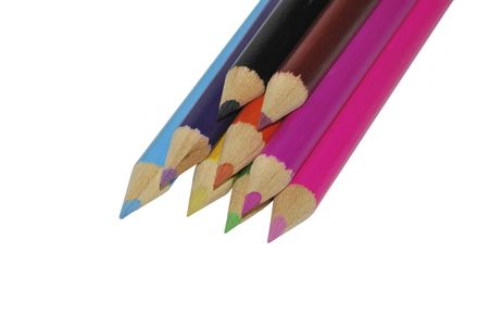 color pencils isolated over a white backghround Stock Photo - 5756804