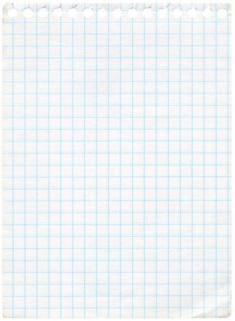 foglio a righe: Old paper grafico isolated on white. Extra ad alta risoluzione