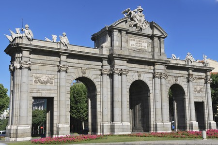 Puerta de Alcala. Famous landmark in Madrid. Spain photo