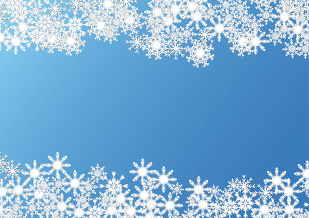 snowing: Christmas background made with snowflakes over blue