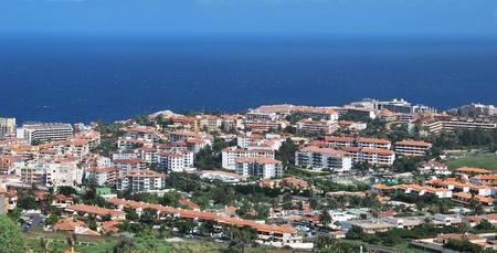 Panoramic view of Puerto de la Cruz. Tenerife, Spain. Touristic place Stock Photo - 8424704