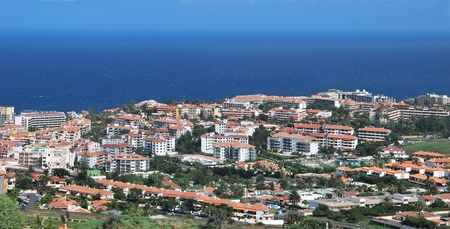 Panoramic view of Puerto de la Cruz. Tenerife, Spain. Touristic place Stock Photo - 8424704