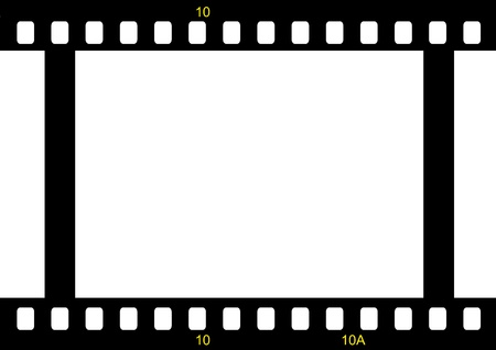 film industry: film strip ready to be filled with pictures.