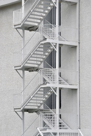 External security stairs in a modern building used in emergencies photo
