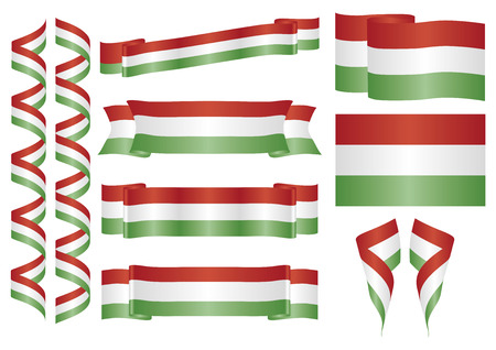 hungary: Set of hungarian ornaments. Decorative elements