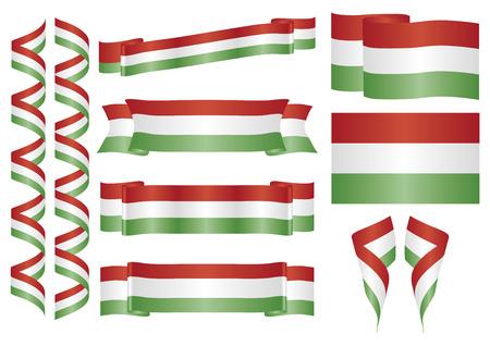 hungarian: Set of hungarian ornaments. Decorative elements