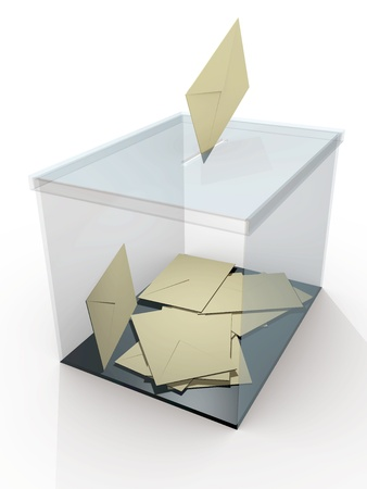secrecy of voting: Democracy. Ballot box in a referendum. Politics and elections