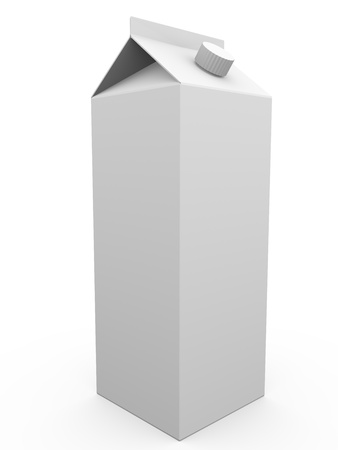 Blank package of liquids or milk. 3d ilustration.  Stock Photo