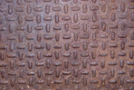 oxidized: Oxidado trozo de metal antiguo. Textura corro�do