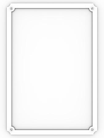 Metallic white plaque over a white background photo