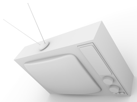 3d render of an Old fashioned television. Tv. Stock Photo - 9984958