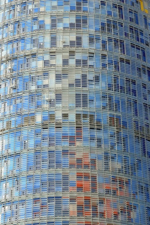 Facade of Agbar tower. Modern building in the financial district of Barcelona. Catalunya. Spain Stock Photo - 10950262