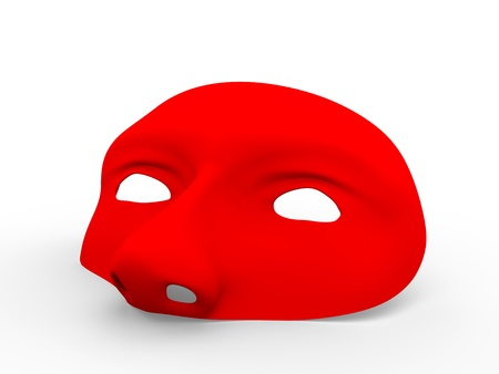theater mask: Retro style mask in red. Helps to hide your identity in carnival, halloween or other holidays