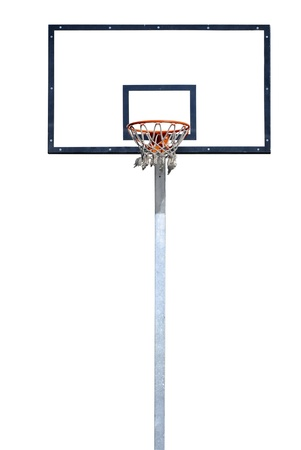 hoop: Basketball hoop isolated over a white background.