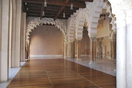 barracks: Interior view of Palacio de la Alfajeria, Saragossa, Spain.