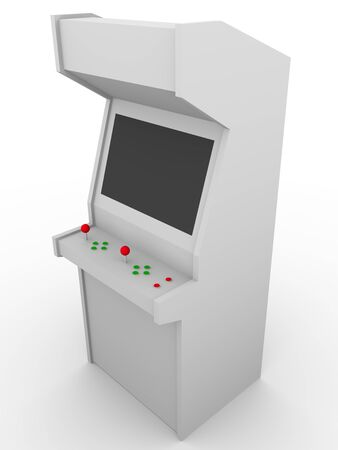 Retro style video game. Arcade machine made in wood. Stock Photo - 12390610