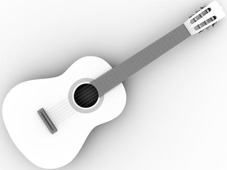 Spanish flamenco guitar. Wooden music instrument. Stock Photo - 12390594