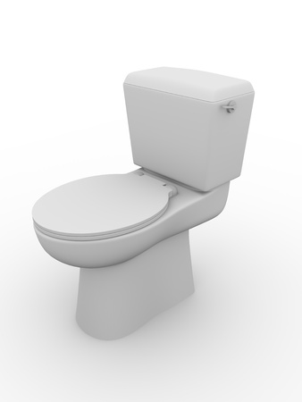 Closed Toilet Bowl. Bathroom Equipment. Water Closet. WC Stock Photo    12390606