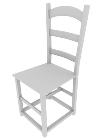 chair wooden: Wooden chair isolated over a white background