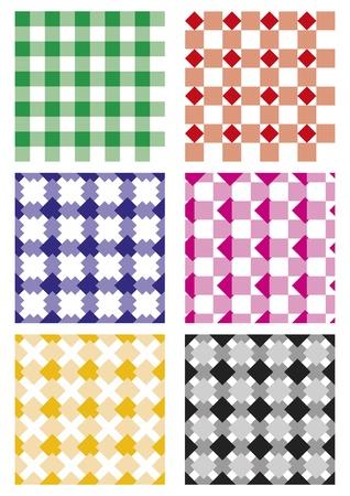 Serie di sei modelli vettoriali senza soluzione di continuità. Elementi ripetitivi Vettoriali