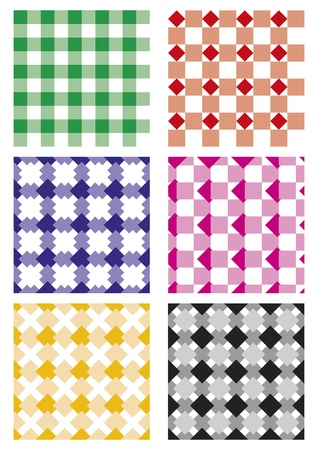 Set of six vector seamless patterns. Repetitive elements Stock Vector - 12390597