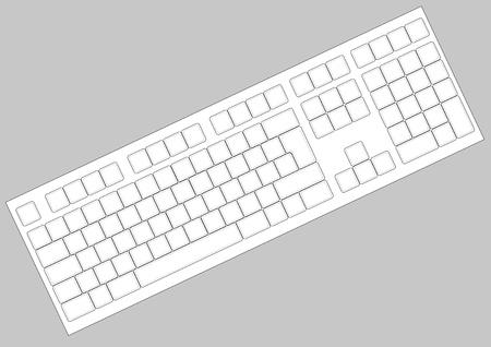 Vector blank keyboard layout. Computer input element Vector