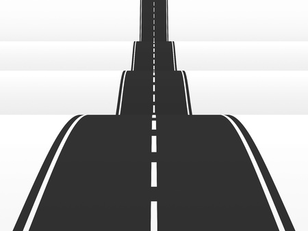 Straight road over the hills  3d illustration Stock Illustration - 12700700
