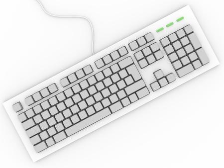 клавиатура: Личная клавиатуры компьютера без устройства ввода букв Фото со стока