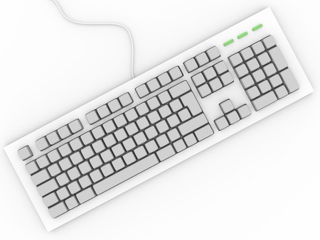 Personal computer keyboard without letters  Input device  photo