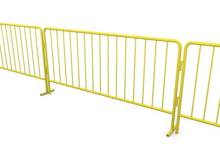 boundary: boundary made with construction barriers in yellow