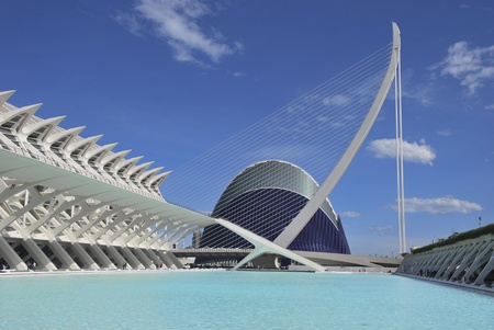 View of the Agora, the Museo de las Ciencias and Umbracle, Valencia, Spain