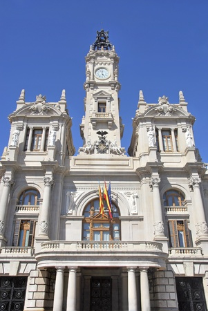 Town hall facade in the city of Valencia  Spain Stock Photo - 13386723