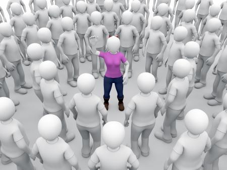 acoso laboral: Una mujer rodeada de hombres está levantando la mano para pedir ayuda. El acoso y el abuso sexual de concepto