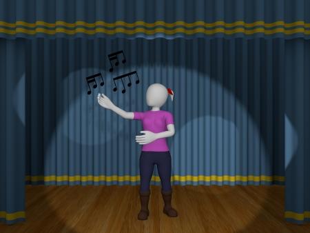 chanteur opéra: Une femme chante une chanson dans le théâtre Banque d'images