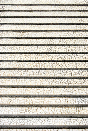 Urban stairs in modern style made of pieces of stone photo
