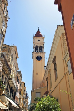 Argios Spyridon church in a street of Corfu. Greece Stock Photo - 14929956