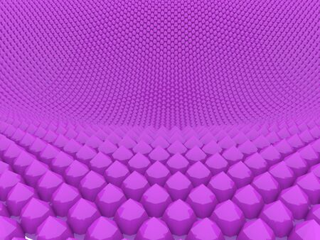 Background made with a large group of shapes in purple Stock Photo