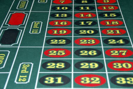 roulette: Roulette numbers in red and black. Bet and win Stock Photo