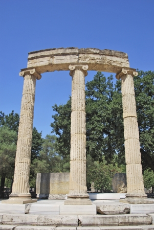 lintels: Philippeion, athenian monument in the Altis of Olympia. Katakolon, Greece