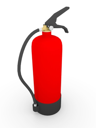 foam safe: Extinguisher painted in red. Fire-fighting equipment.