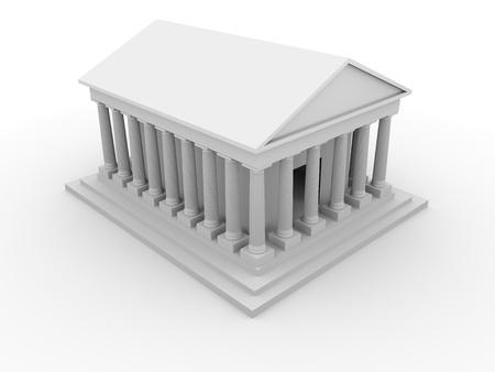 templo griego: Ilustración de un antiguo templo griego con columnas