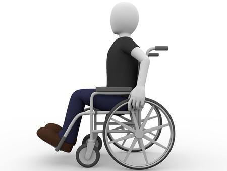 Een man zit in een rolstoel Concept van handicap Stockfoto