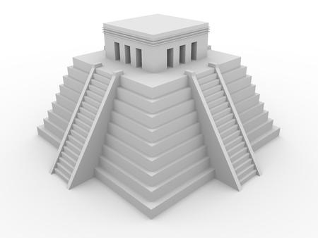 3d temple: 3d illustration of an ancient aztec temple